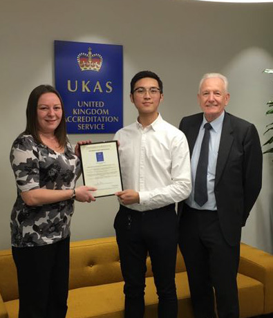 UKAS official held a grand ceremony of accreditation certificate for HXQC